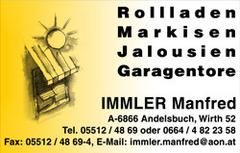 Sonnenschutz Immler Manfred